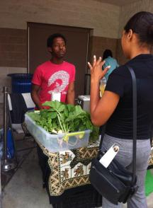 'Farmer Chris' at Georgia State University Farmer's market.